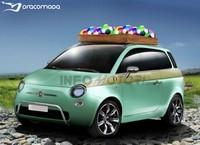 Future Fiat 500 Giardinetta : pot de yaourt XXL