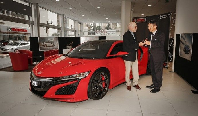La première Honda NSX livrée enEurope à un ambassadeur de choix