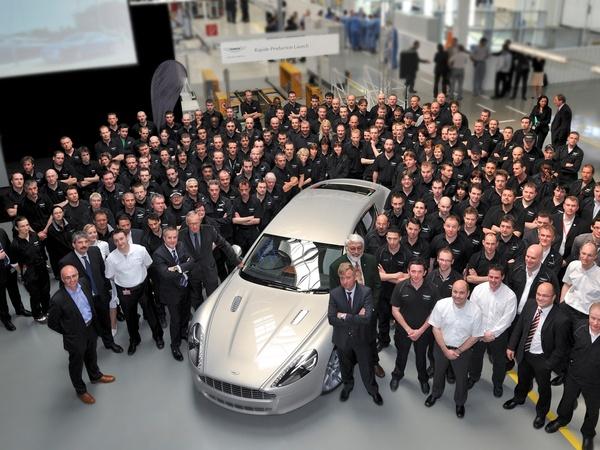 Aston Martin Rapide : la production a démarré