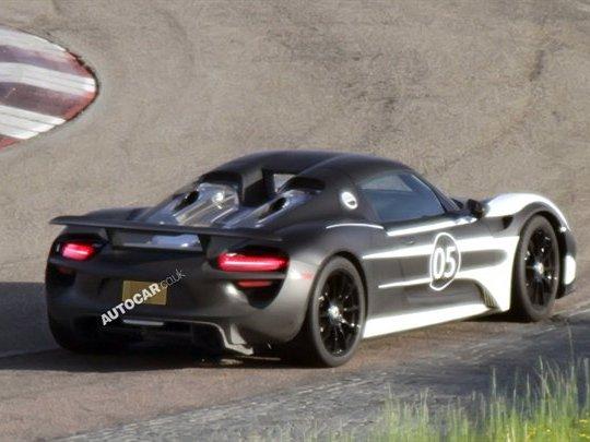 La future Porsche 918 Spyder surprise