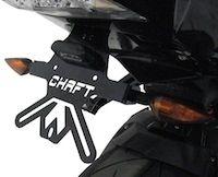 Chaft s'occupe de la plaque d'immat' de la BMW S1000RR.