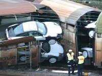 20 Porsche endommagées d'un coup