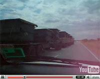 Vidéo: une file d'un camion...