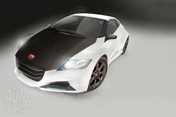 Future Honda CR-Z Type R : 200 ch sous un capot noir