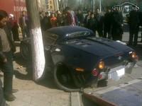 Car Crash : un Spyker C8 Spyder chiffonné en Chine
