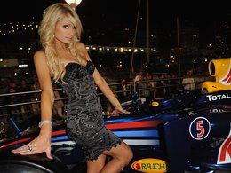 People : Paris Hilton chez Red Bull à Monaco