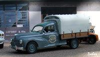 Miniature : 1/43ème - PEUGEOT 203 camionnette bâchée