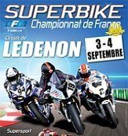 Le championnat de France SBK à Ledenon les 3 et 4 septembre
