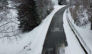 Une route chauffante qui se déneige toute seule
