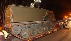 Insolite: un char d'assaut a été perdu sur l'autoroute