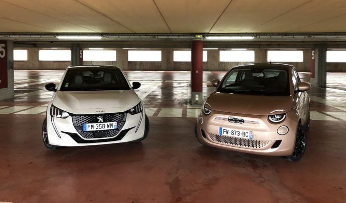 Comparatif vidéo : Fiat 500 e vs Peugeot e-208 : laquelle est la plus branchée ?