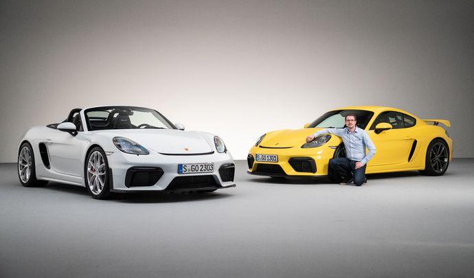 Porsche 718 Cayman GT4 et Boxster Spyder : retour du bon son (présentation vidéo)