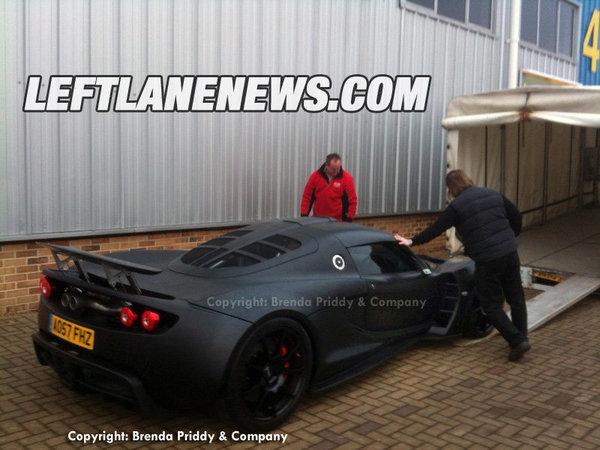 Sortie de camion pour la Hennessey Venom GT