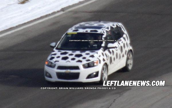 La future Chevrolet Aveo presque nue