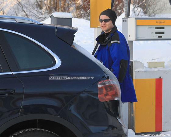 Le futur Porsche Cayenne fait le plein de gazole