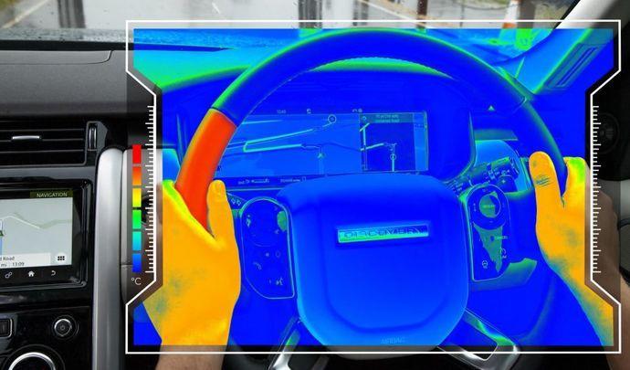 Jaguar Land Rover dévoile un prototype de volant changeant de température