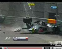 F1 Canada: la vidéo du crash de Robert Kubica