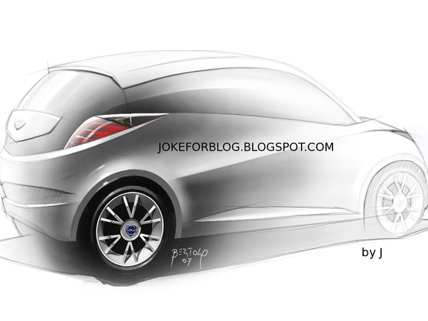 Future Lancia Ypsilon : les dessins