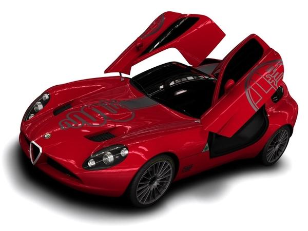 L'Alfa Romeo Zagato TZ3 Corsa produite! Avec un moteur V10...