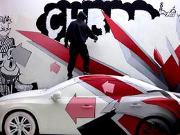 La Volvo S60 décorée par 10 artistes de rue