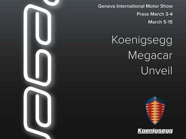 "Genève 2015 : Koenigsegg dévoilera sa ""megacar"" Regera"