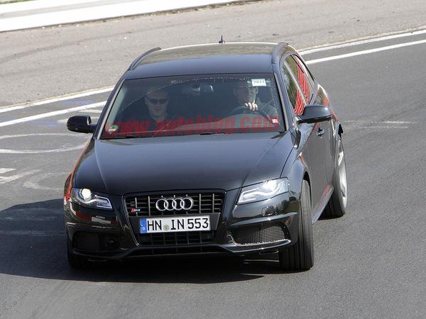 Future Audi RS4 Avant: le mulet
