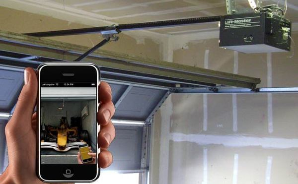 j ouvre la porte de mon garage avec mon iphone