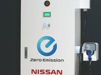 Nissan a développé une borne de recharge rapide électrique