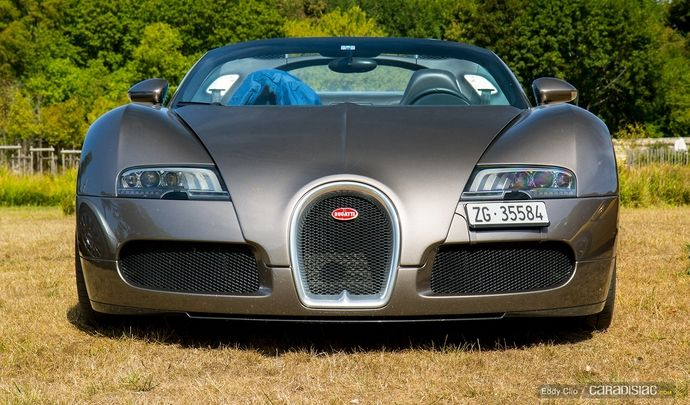Photos du jour : Bugatti Veyron Grand Sport (Concours d'Elegance de Chantilly)