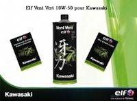 Kawasaki et Elf lancent le Vent Vert 10W-50 pour lubrifier votre moteur
