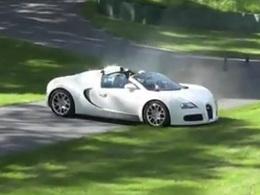 [vidéo] Petite frayeur en Bugatti Veyron Gran Sport