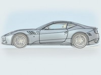 Future Ferrari California: V8 3,8 litres turbo et hybride