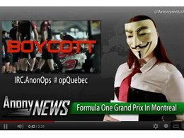 Anonymous menace le Grand Prix F1 du Canada