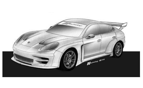 1ère image de la future Porsche Panamera S de compétition
