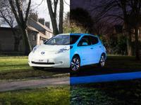 Nissan couvre sa Leaf d'une peinture phosphorescente