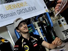 Romain Grosjean en visite chez Renault, à Cléon