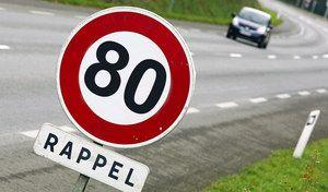 Routes à 80km/h: le rapport de l'expérimentation est enfin publié maiszappe l'essentiel