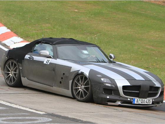 Futur Mercedes SLS Roadster à l'attaque sur le Ring