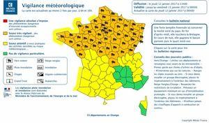 Alerte météo: 53 départements en vigilance orange