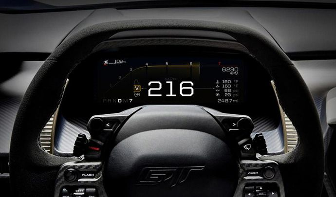 Ford dévoile le tableau de bord numérique de la nouvelle GT