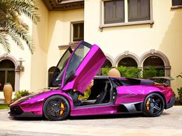 Lamborghini Murcielago ADV.1 670 SV Chrome Purple. Après le mat, le chrome coloré.