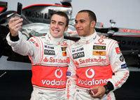 F1: Hamilton et Alonso font la paix...forcée.