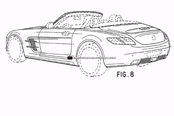 Future Mercedes SLS Roadster sous toutes les coutures à l'état de croquis définitif