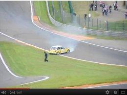 World Series Renault à Spa : l'accident de Jean Ragnotti