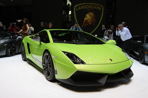 Lamborghini Gallardo LP 570-4 Superleggera en direct de Genève : oh la belle verte...