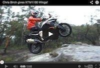Vidéo: Chris Birch au guidon d'une KTM 1190 Adventure R