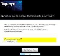 Donnez votre avis sur la marque Triumph en quelques clics