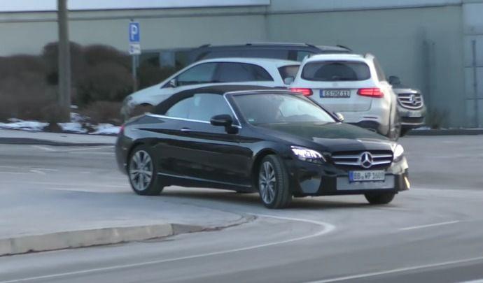 Scoop : la Mercedes Classe C cabriolet restylée montre son regard