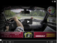 Ring Folies : la vidéo du tour intégral de l'Alfa Romeo 4 C  en 8'04''