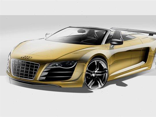 Audi lancera une R8 GT Spyder début 2012